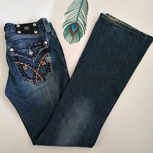 Miss Me Button Flap Pockets Bootcut Jeans Sz 27